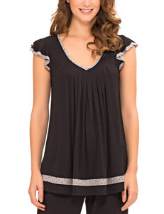 Ellen Tracy Black Pajama Tops