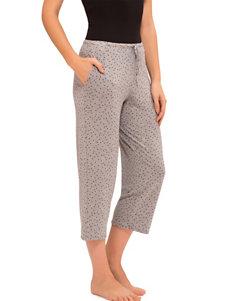 Ellen Tracy Basic Cropped Polka Dot Pajama Pants