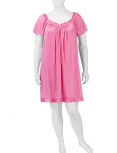 Vanity Fair Plus-size Tricot Solid Color Short Gown