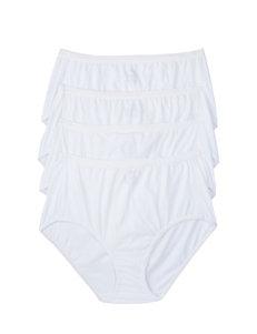Hanes® 4-pk. Solid Color Ultimate Cotton Comfort Panties