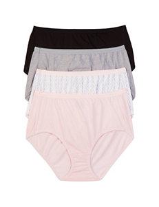 Hanes 4-pk. Assorted Ultimate Cotton Comfort Panties