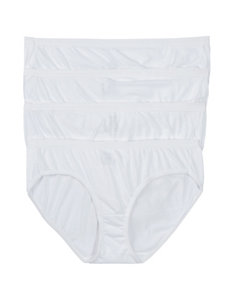 Hanes 4-pk. Solid Color Ultimate Cotton Comfort Hipster Panties