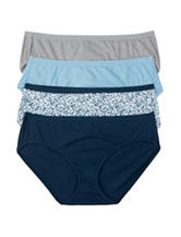 Hanes® 4-pk. Assorted Ultimate Cotton Comfort Hipster Panties