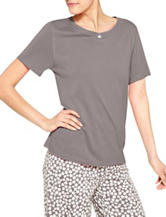 Hue® Grey Henley Pajama Top