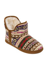 Dearfoams® Bright Fair Isle Print Bootie Slippers