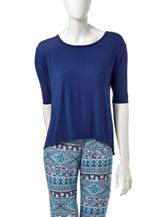 Lissome Plus-size Solid Color Hi-Lo Pajama Top