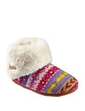 Olivia Miller Multicolor Sweater Knit Plush Booties