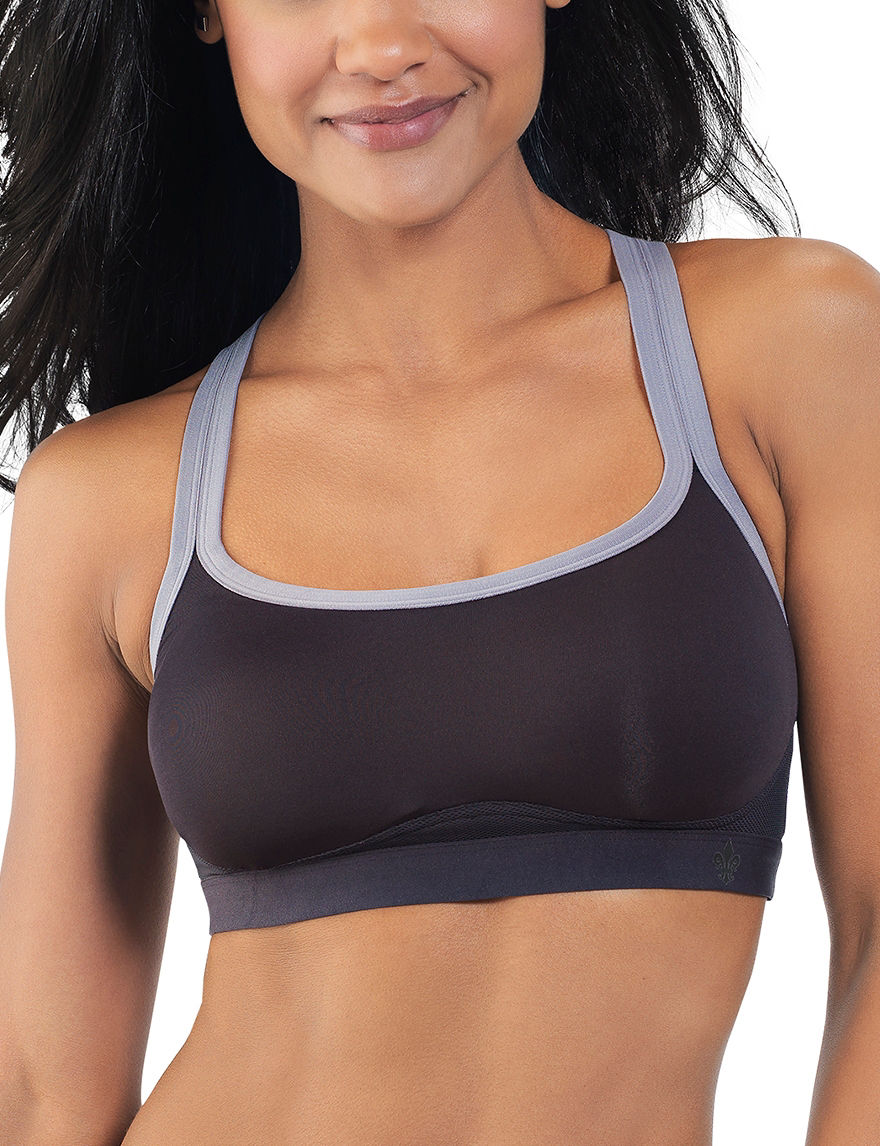 Lily of France Charcoal Bras Sports Bra