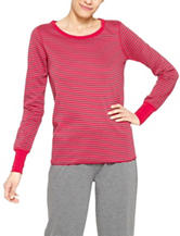 Hue® Reversible Striped Pajama Top
