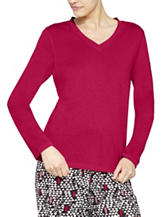 Hue® Pink Soft Knit Pajama Top