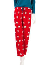 Jockey® Skiing Bird Print Micro Plush Pajama Pants