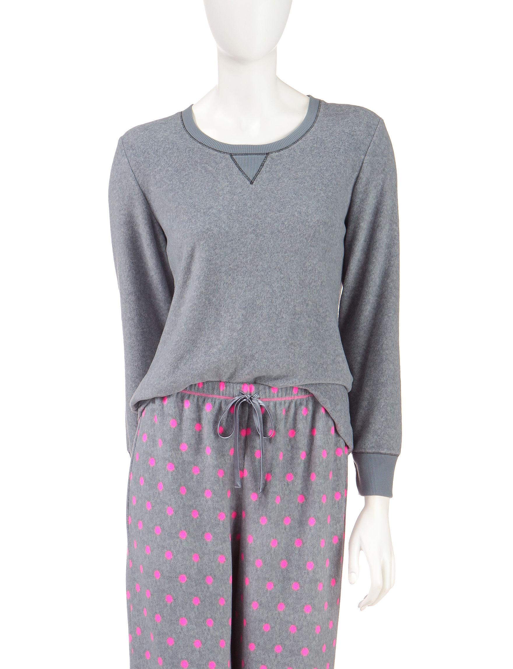 Jaclyn Intimates Heather Grey Pajama Tops