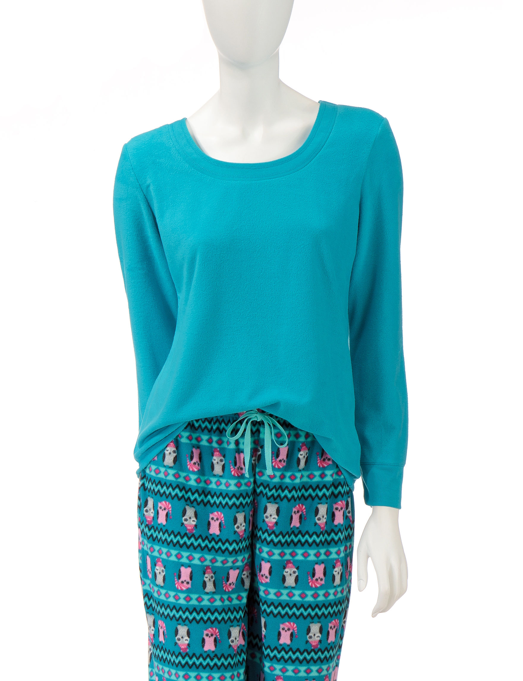 Jaclyn Intimates Blue Pajama Tops