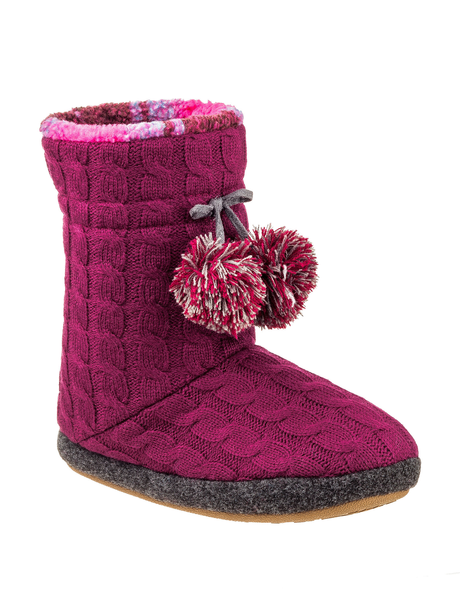 Cuddl Duds Purple Slipper Boots & Booties