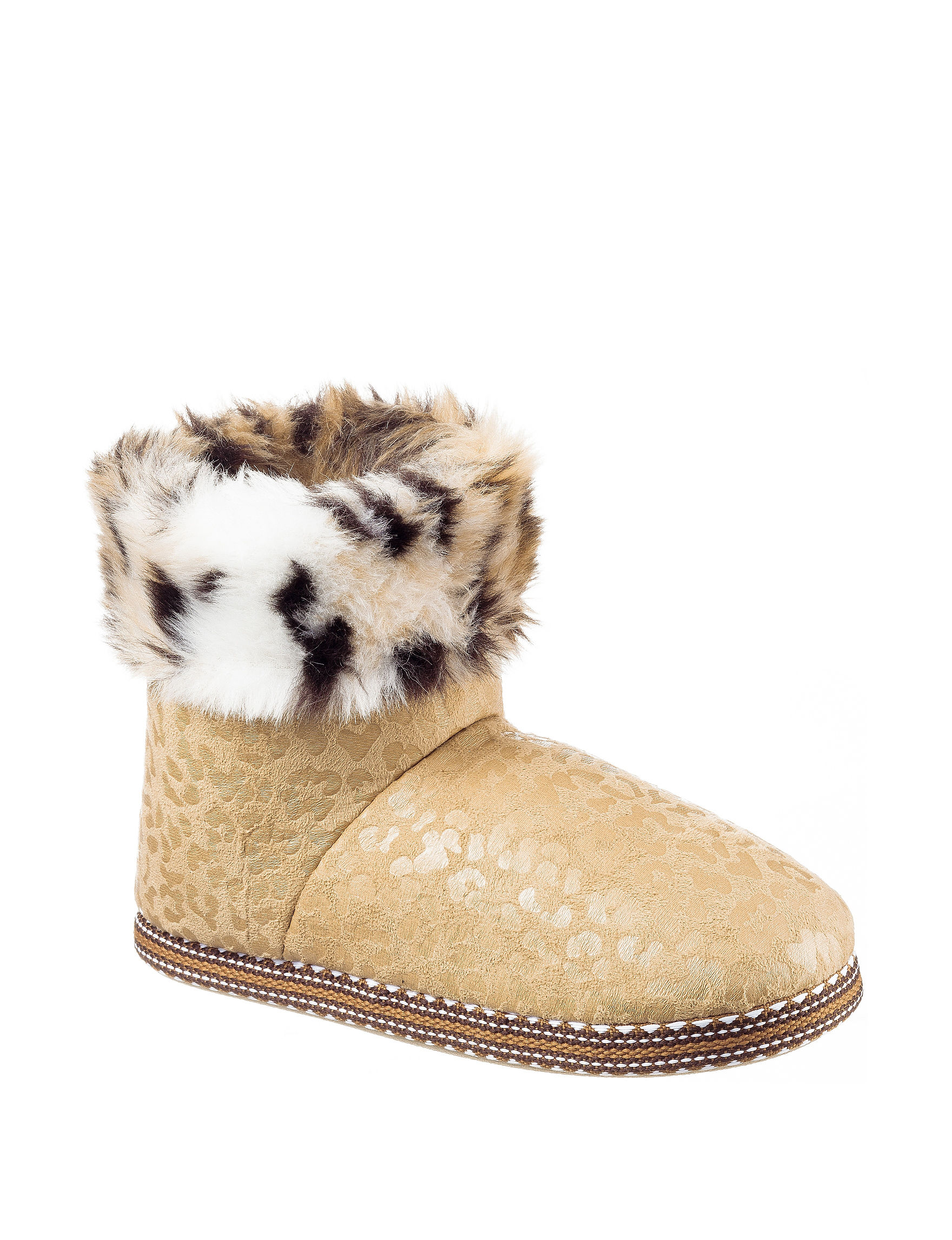 PJ Couture Tan Slipper Boots & Booties