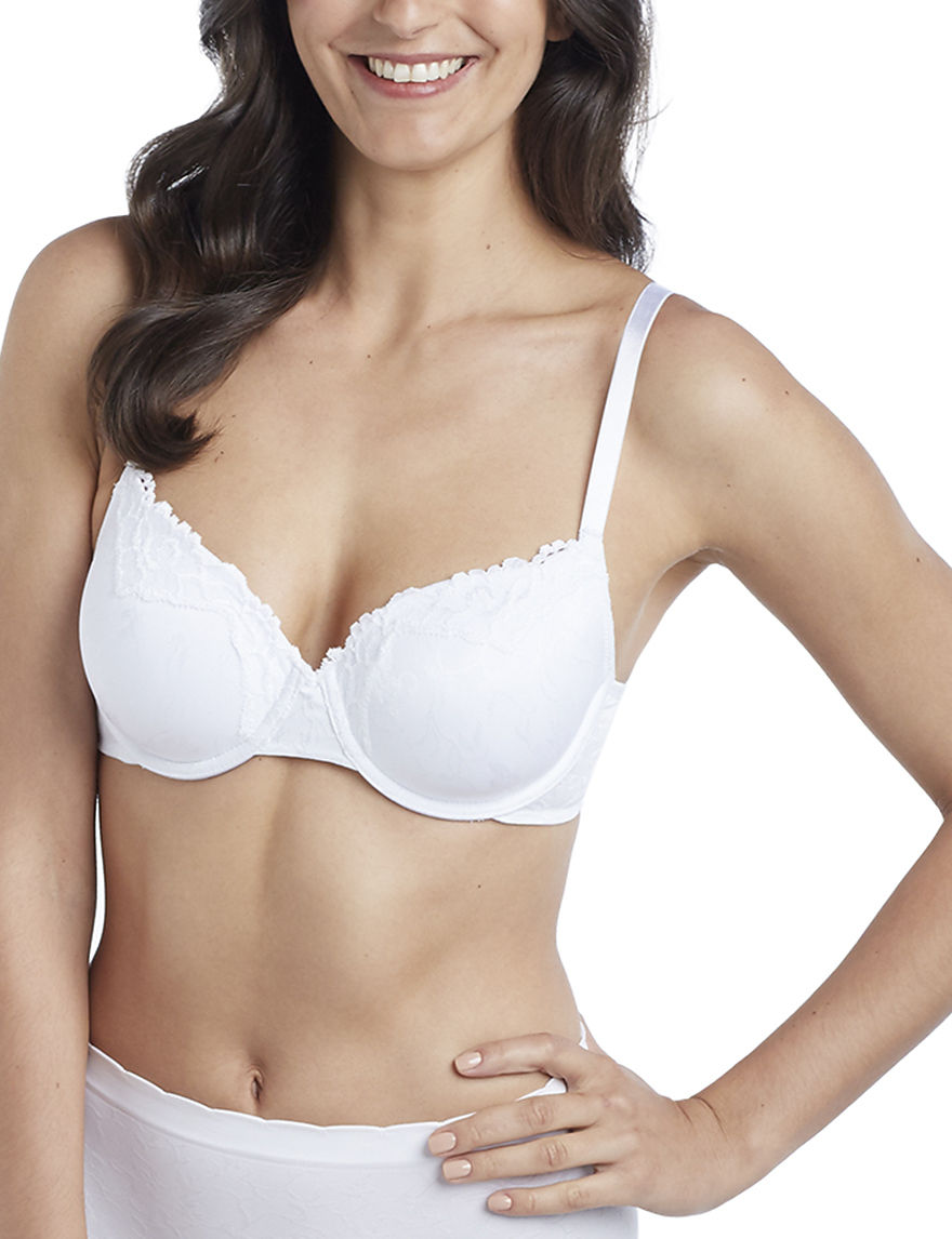 Ellen Tracy White Bras Push Up Underwire