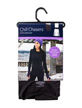 Chill Chasers® by Cuddl Duds® Plus-Size Warm Layers Stretch Microfiber Solid Color Top