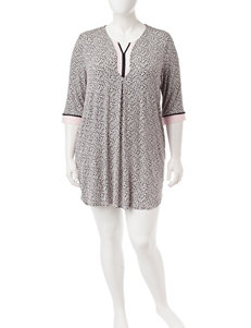 Ellen Tracy Plus-size Cheetah Nightgown
