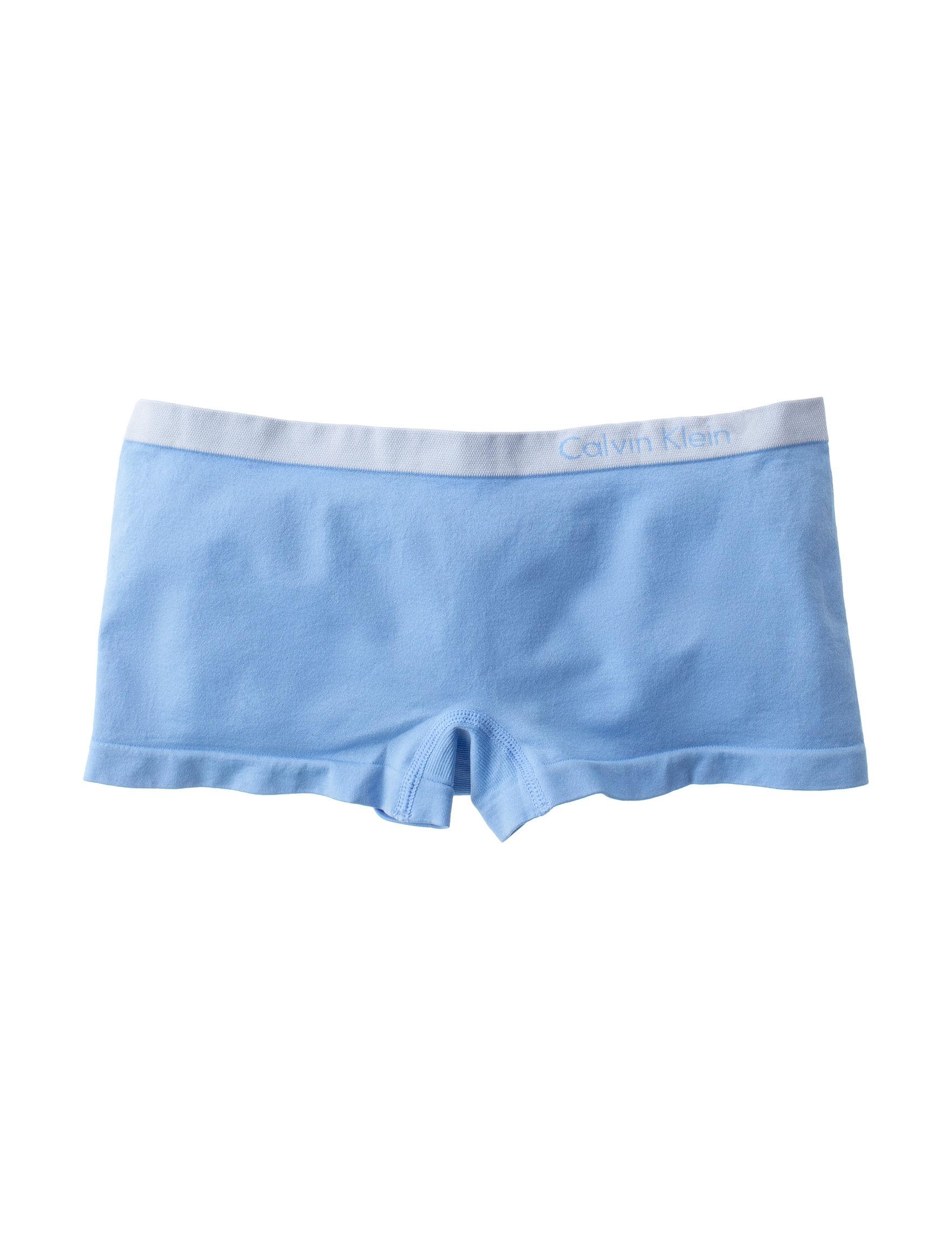 Calvin Klein Blue Panties Boyshort Seamless