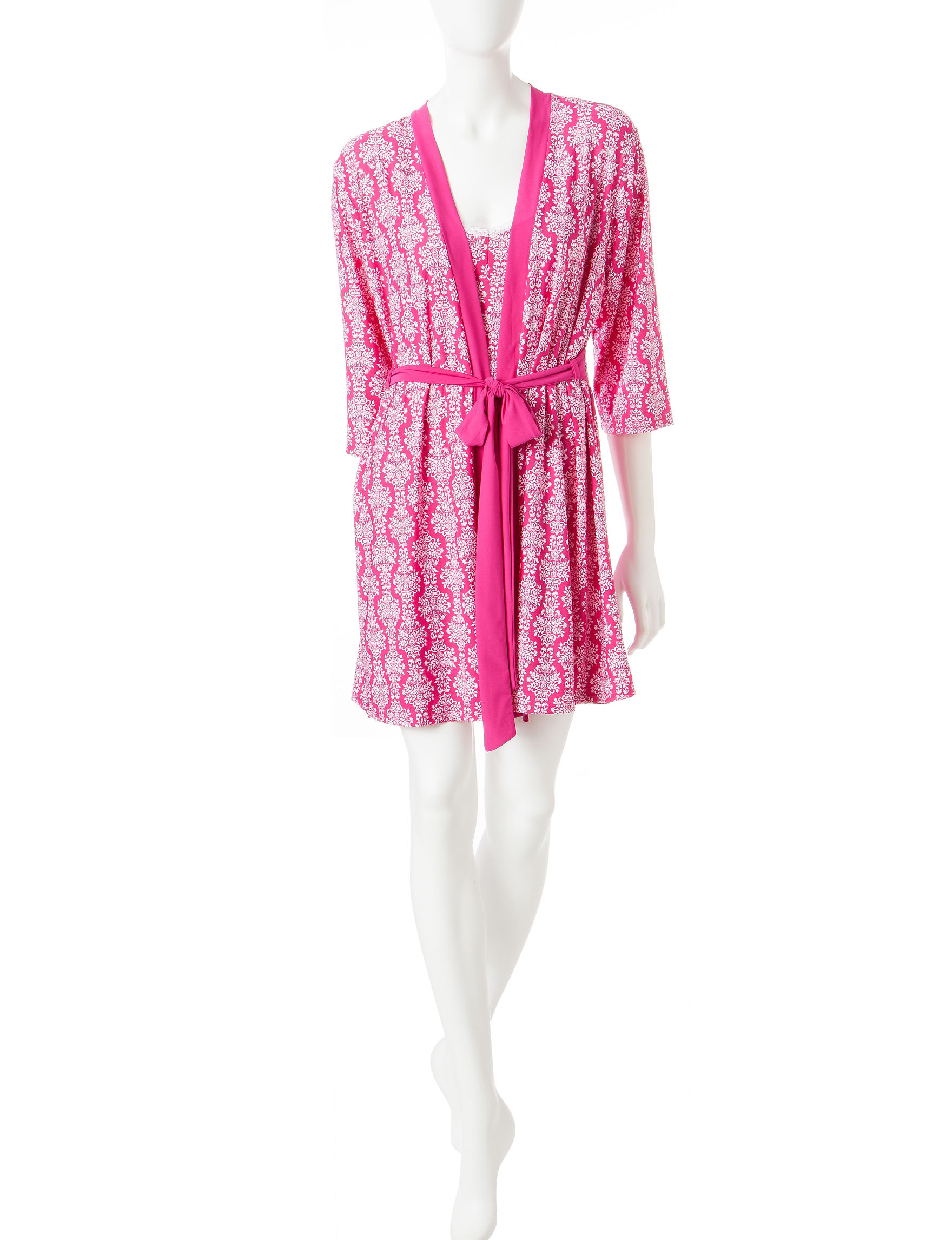 Laura Ashley Pink / White Robes, Wraps & Dusters