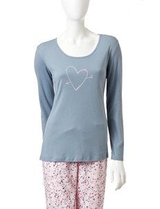 Jockey Grey Pajama Tops