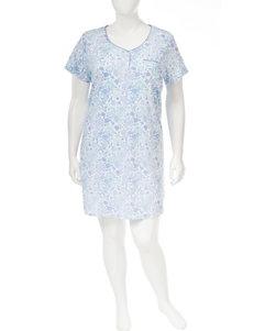Karen Neuburger Blue Multi House Dresses