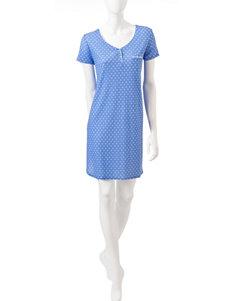 Karen Neuburger White & Blue Floral Dot Chemise