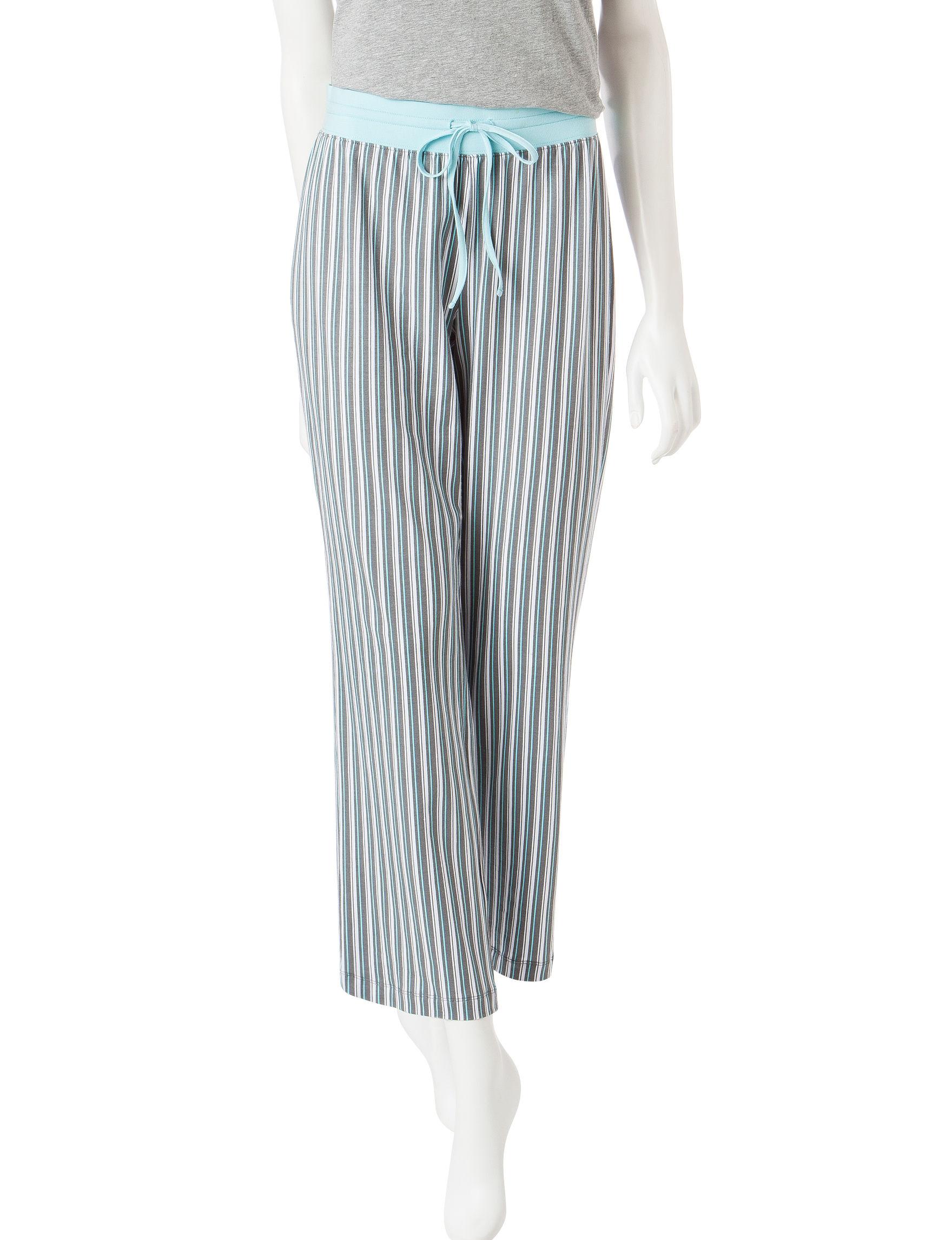 Rene Rofe Blue / Grey Pajama Bottoms