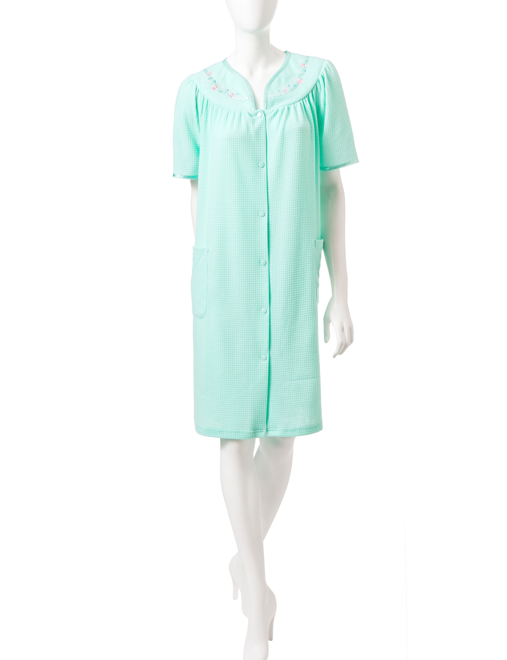 Jasmine Rose Mint Robes, Wraps & Dusters