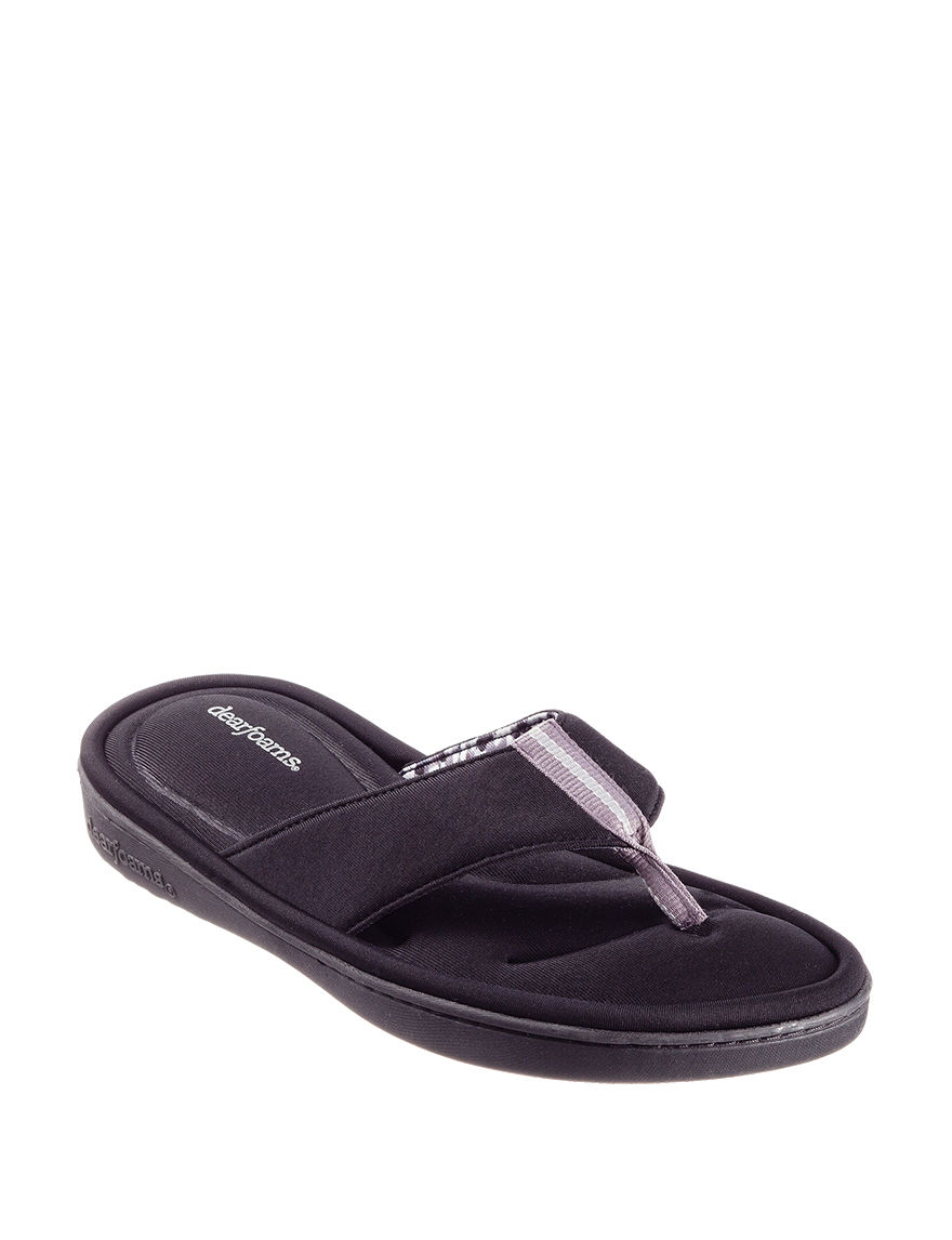 Dearfoam Black Slipper Sandals