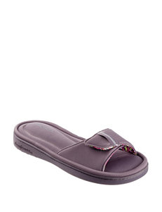 Dearfoam Grey Slipper Sandals