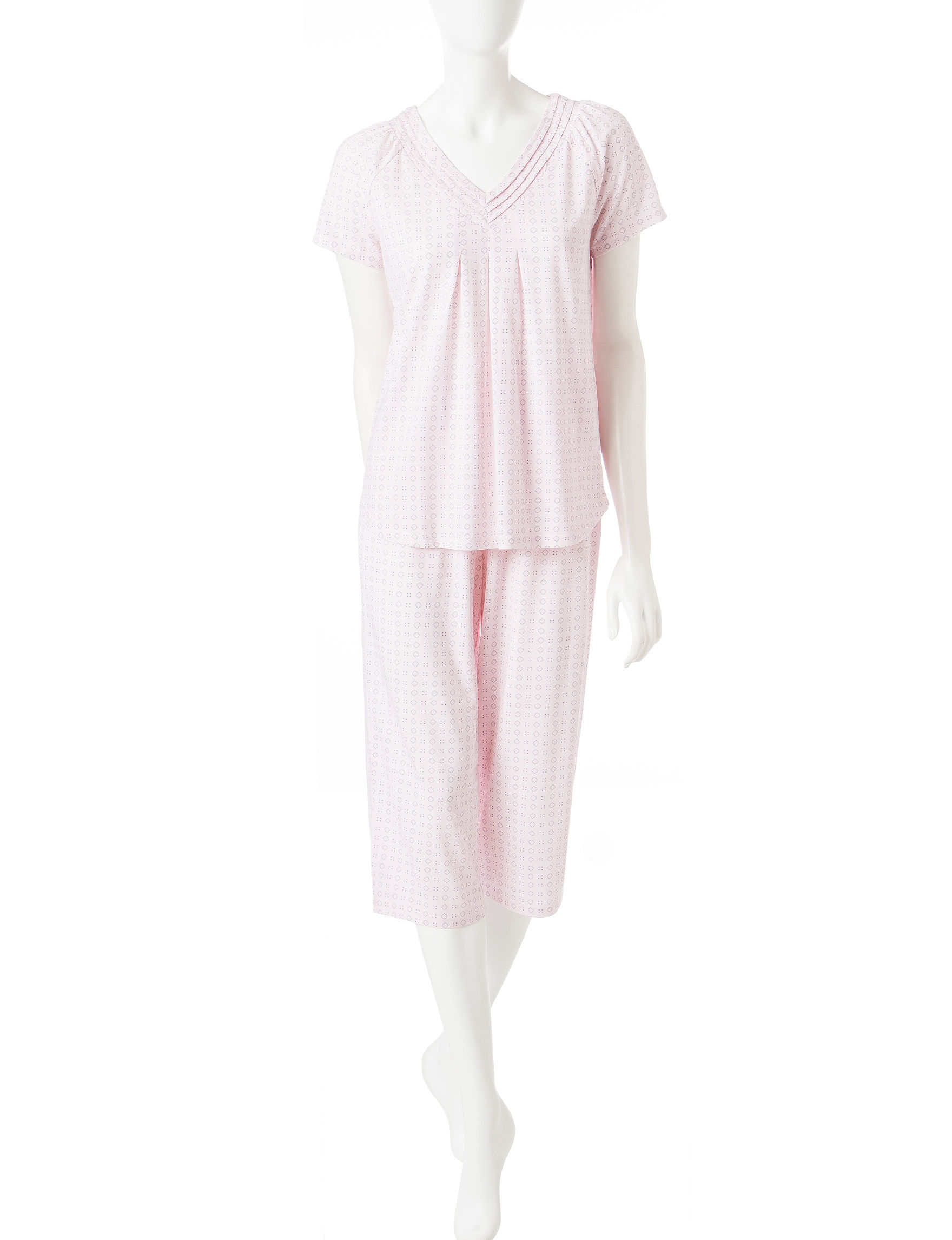 White Orchid Pink Pajama Sets