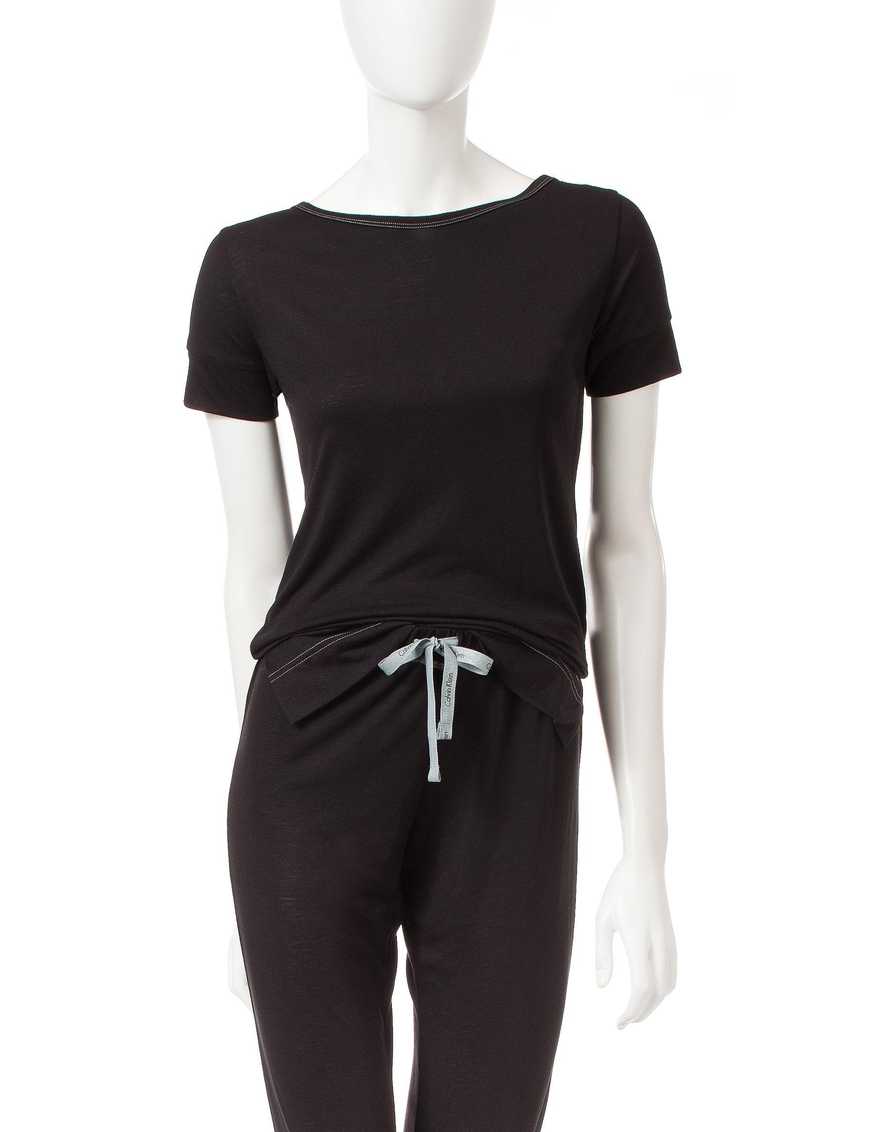 Calvin Klein Black Pajama Tops