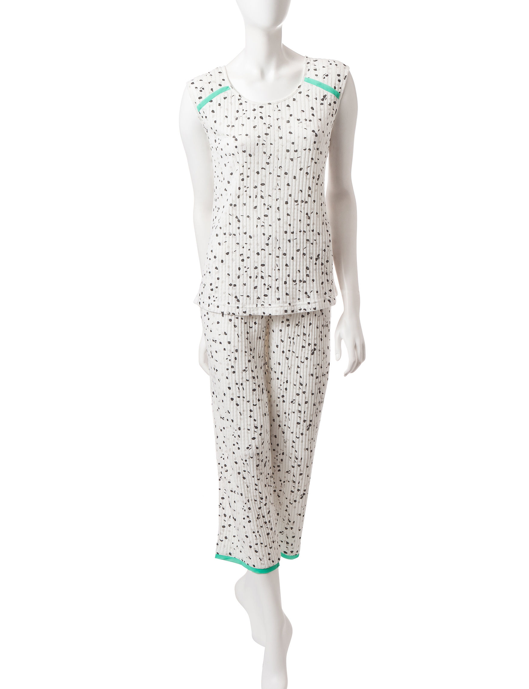 Hanes White Multi Pajama Sets