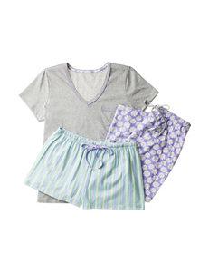 René Rofé 3-pc. Daisy Striped Pajamas