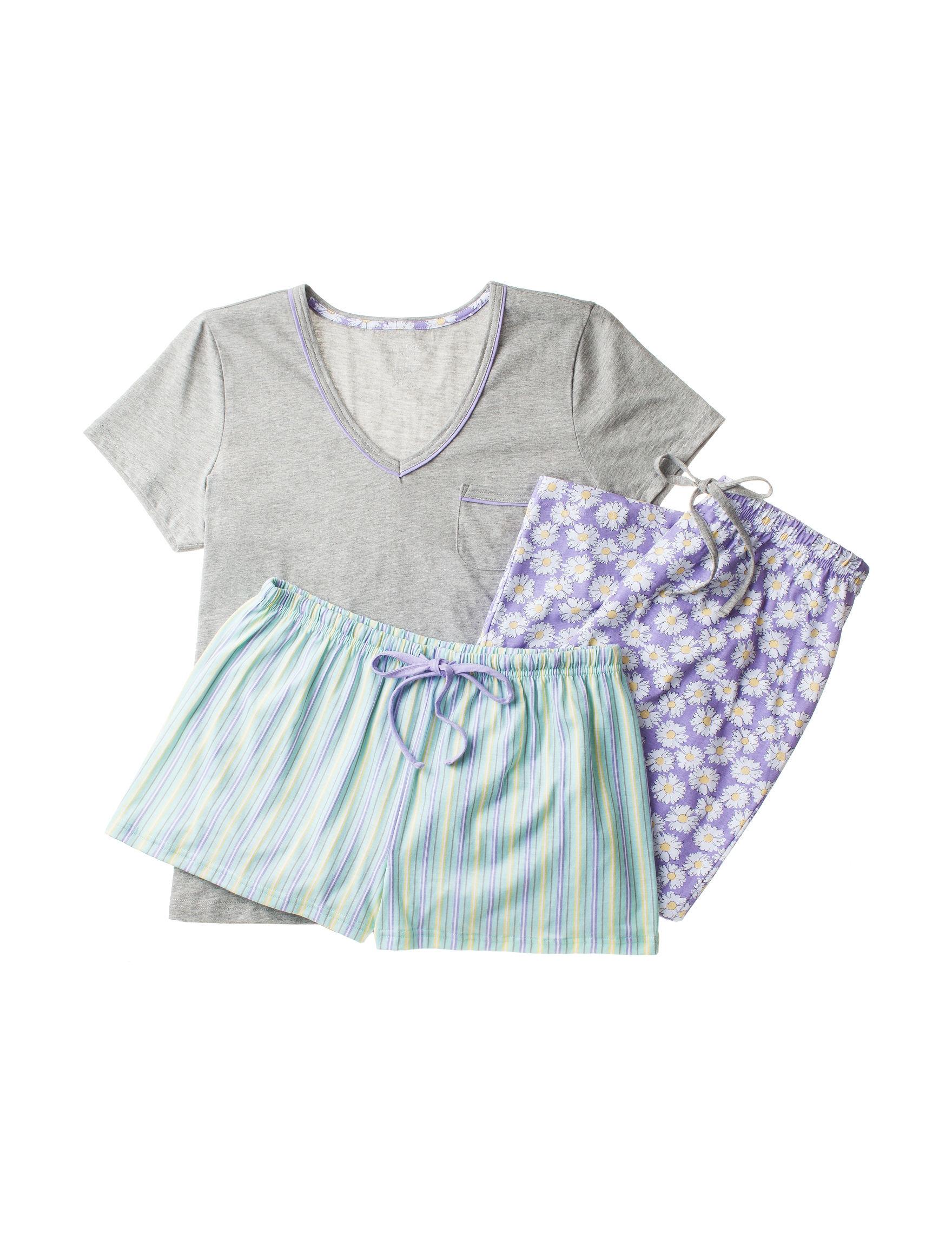 Rene Rofe Grey Multi Pajama Sets