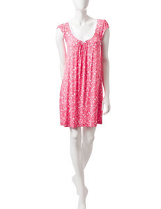 Laura Ashley Pink / White Nightgowns & Sleep Shirts