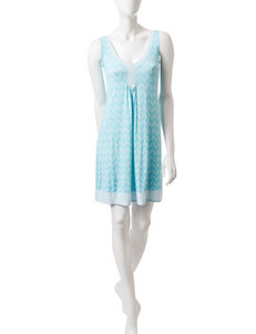Laura Ashley Blue / White Nightgowns & Sleep Shirts