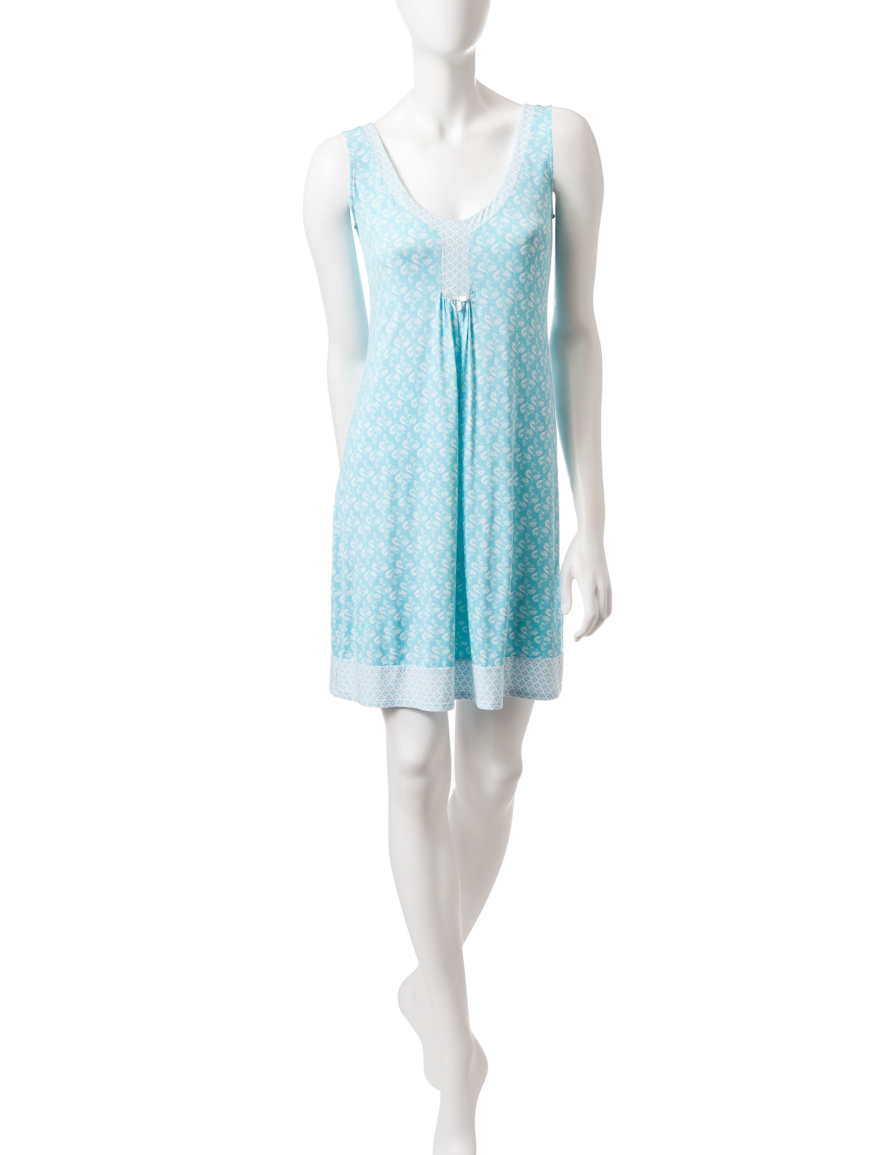 Laura Ashley Blue / White Nightgowns & Sleep Shirts