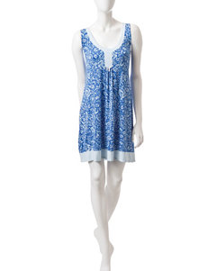 Laura Ashley Blue Multi Nightgowns & Sleep Shirts