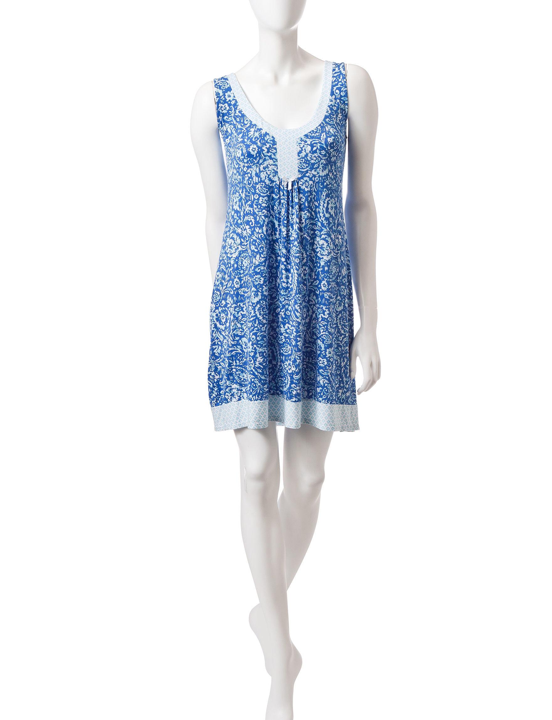 Laura Ashley Blue Multi Nightgowns & Sleep Shirts