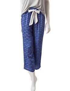 Laura Ashley Blue / White Pajama Bottoms