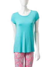 Jockey® Turquoise Scoop Pajama Top
