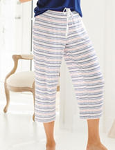 Laura Ashley Striped Print Pajama Pants