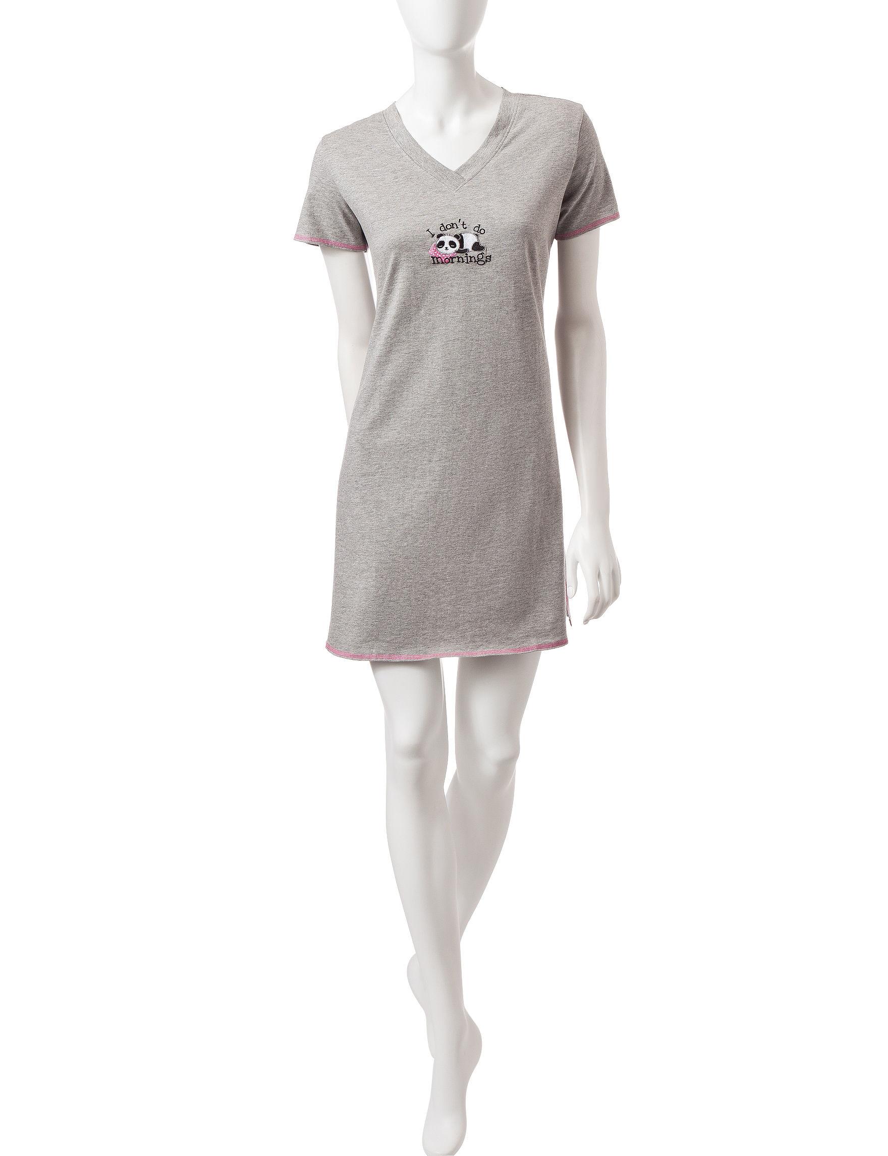 Rene Rofe Heather Grey Pajama Tops