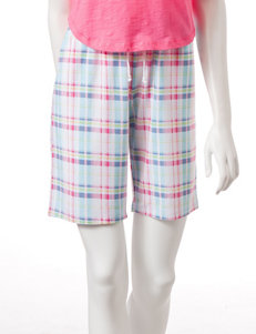 Jockey® Multicolor Plaid Print Bermuda Shorts