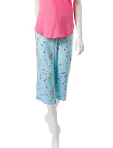 Jockey Vacation Print Capri Pajama Pants