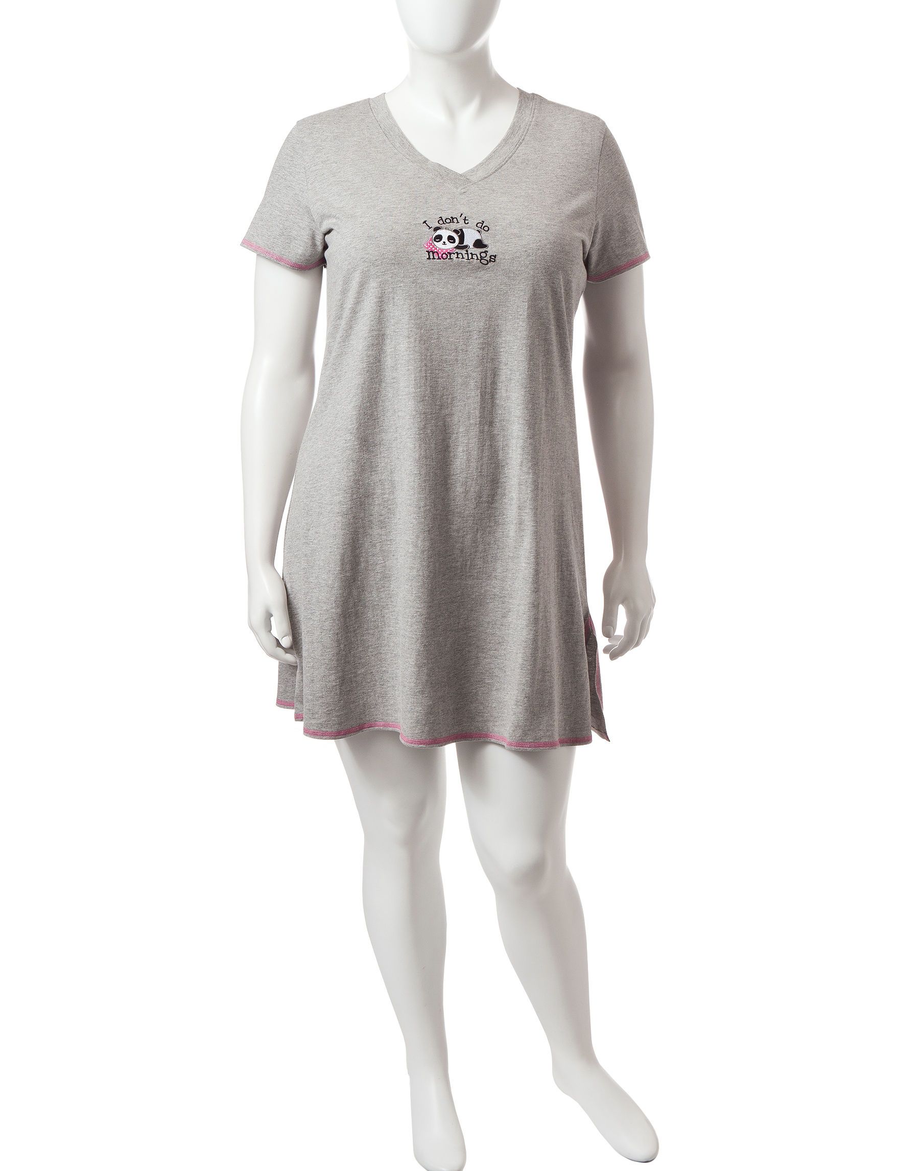 Rene Rofe Heather Grey Pajama Tops