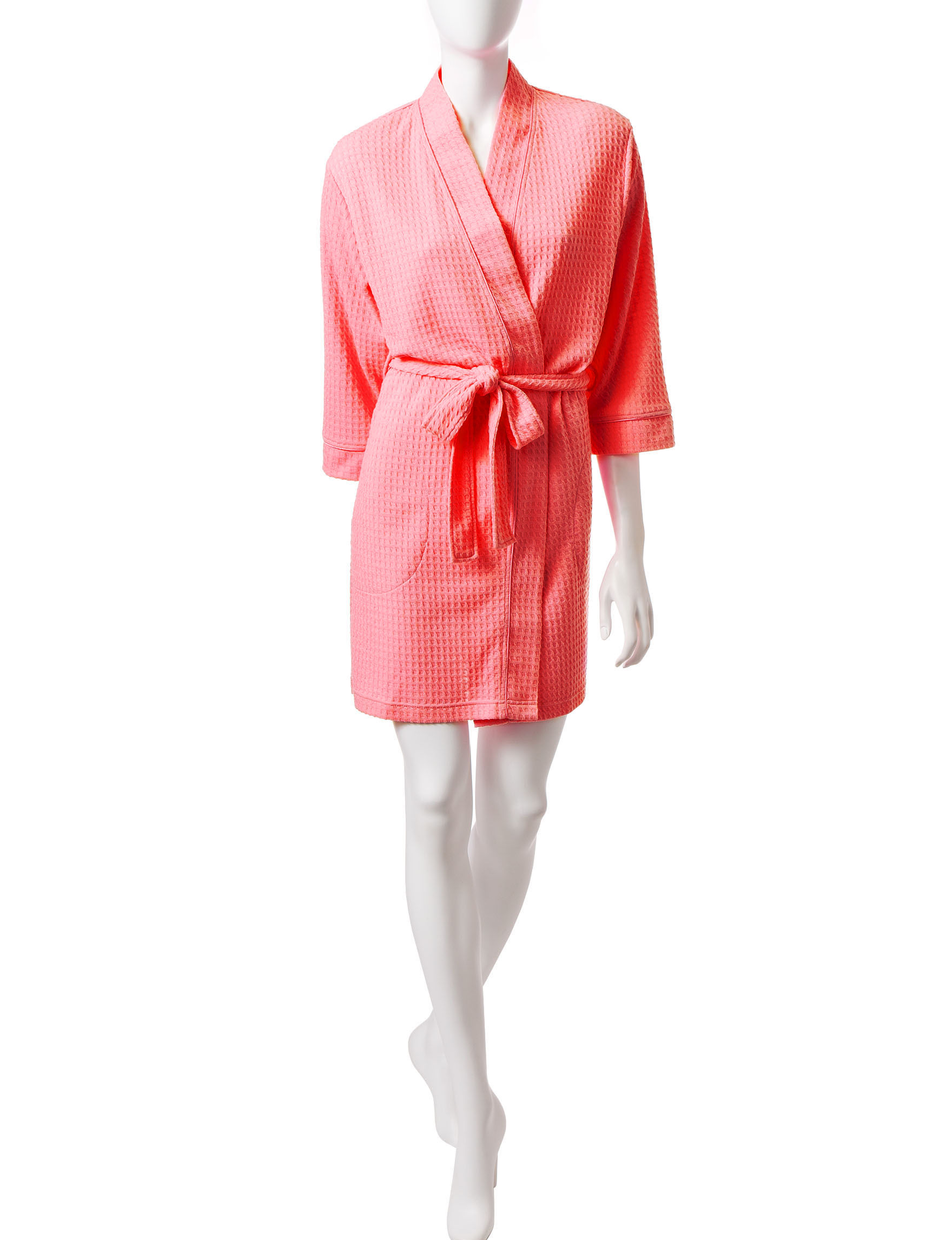 Jasmine Rose Coral Robes, Wraps & Dusters