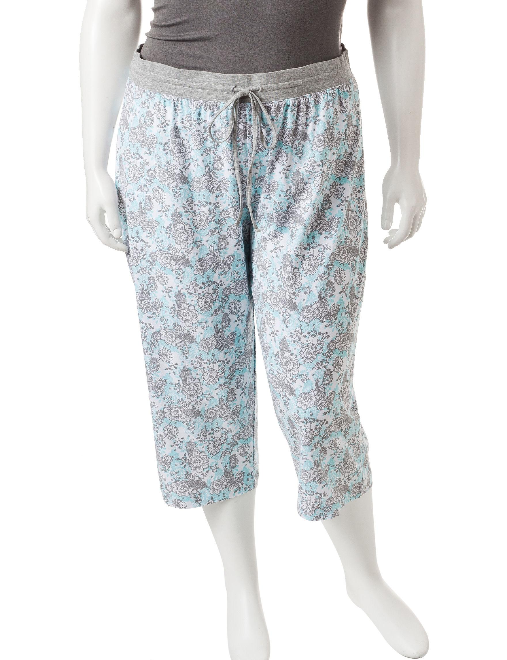 Rene Rofe Grey / Blue Pajama Bottoms